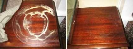 White Water Rings On Wood Furniture