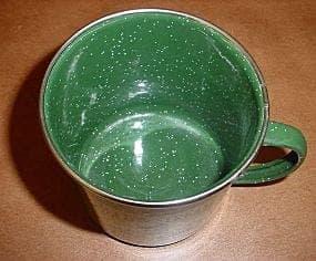 Food safe enamel coating on metalwares