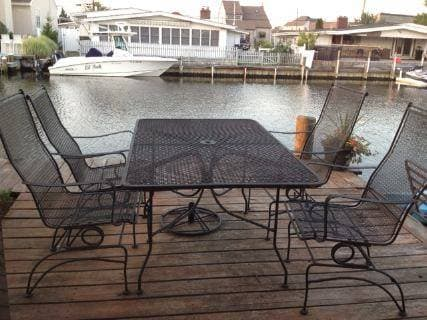 Amazing Outside On My Saltwater Lagoon, 365 Days A Year, Still Doing Fine After 13  Years Of Zero Maintenance! Manufactured In Wadley, Al By Plantation  Patterns Div. ...