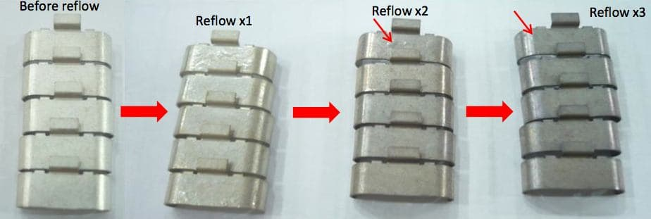 Tin Plating Discolors Turns Yellow After Heating Or Reflow