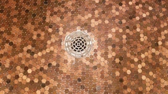 Penny Floor Turned Black